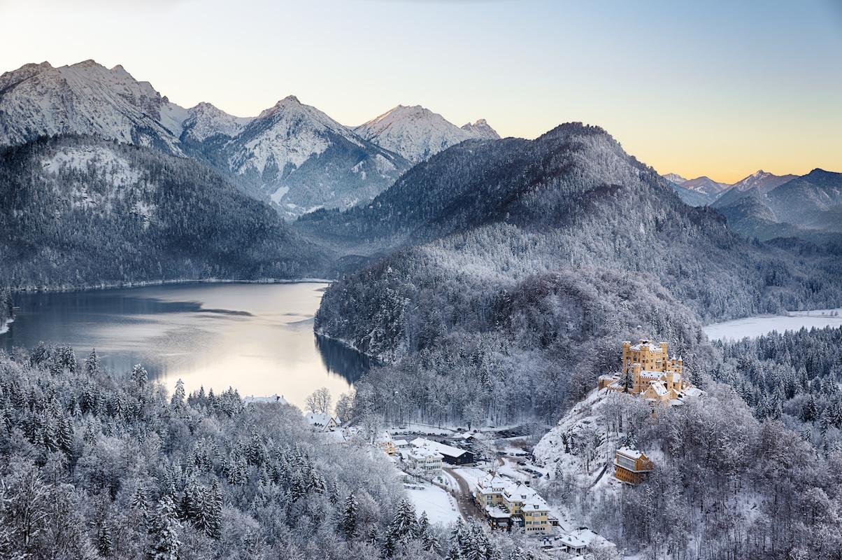 Hohenschwangau im Winter - Winterwanderwege im Allgäu