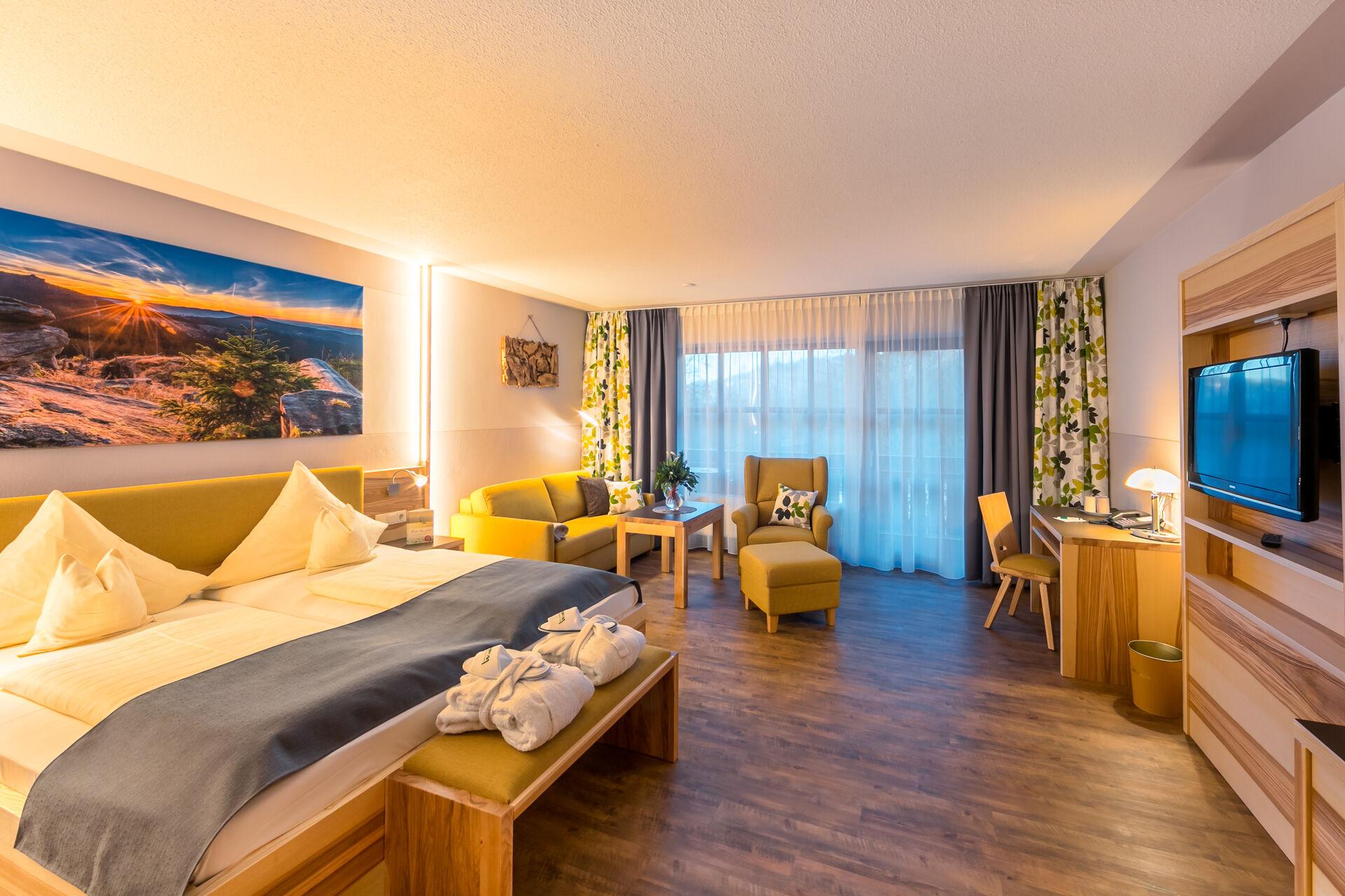 Doppelzimmer im Wellness- und Wohlfühlhotel Waldeck, Bodenmais