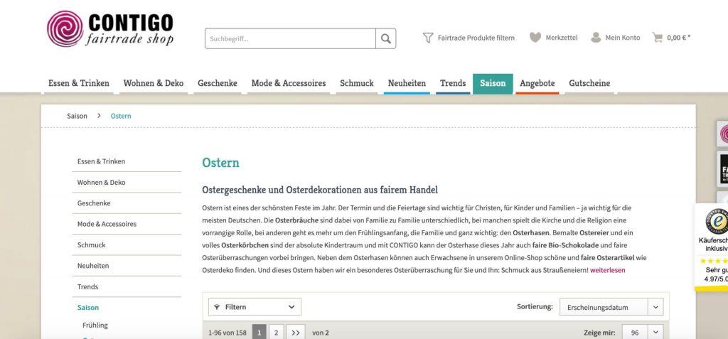 Online-Shops Ostern
