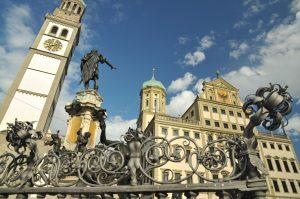 Rathaus Augsburg - Via Claudia Augusta
