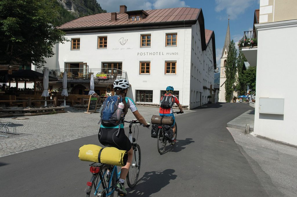 Radfahren in Pfunds, Tirol - Via Claudia Augusta