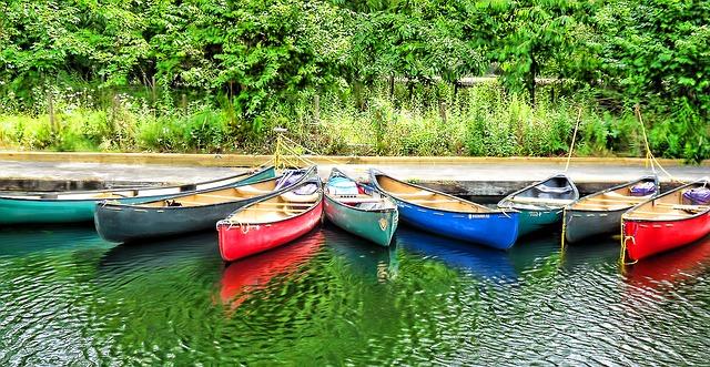 Kanus am Altmühlsee