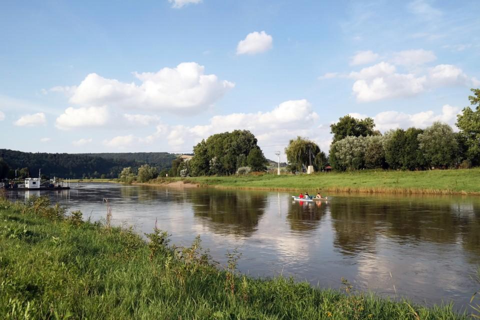 An der Weser bei Polle, Weserbergland