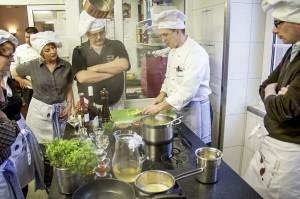 Kochschüler auf Schloss Rheinfels, St. Goar