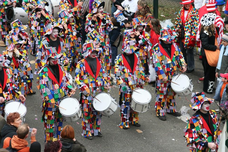 Karneval-Umzug in Köln am Rhein
