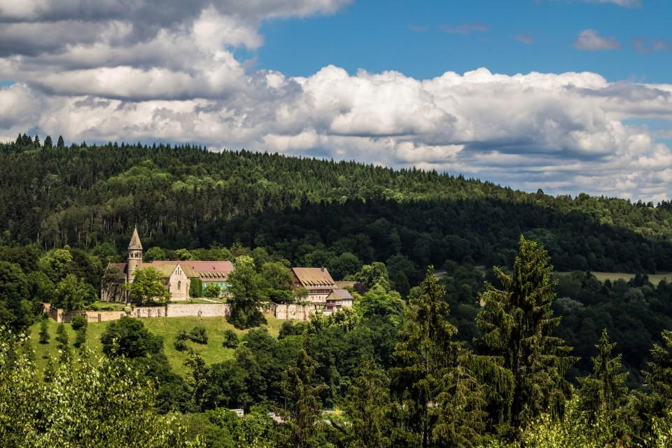 Blick auf das Kloster Lorch