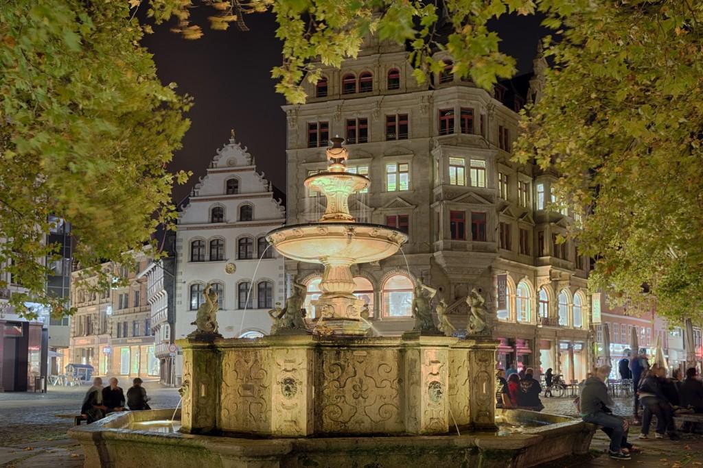 Kohlmarkt in Braunschweig am Abend