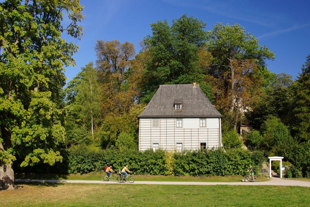 Goethes Gartenhaus in Weimar - Ilmtal-Radweg
