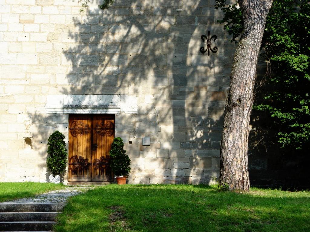 Detailansicht Eingangstür im Kloster Lorch