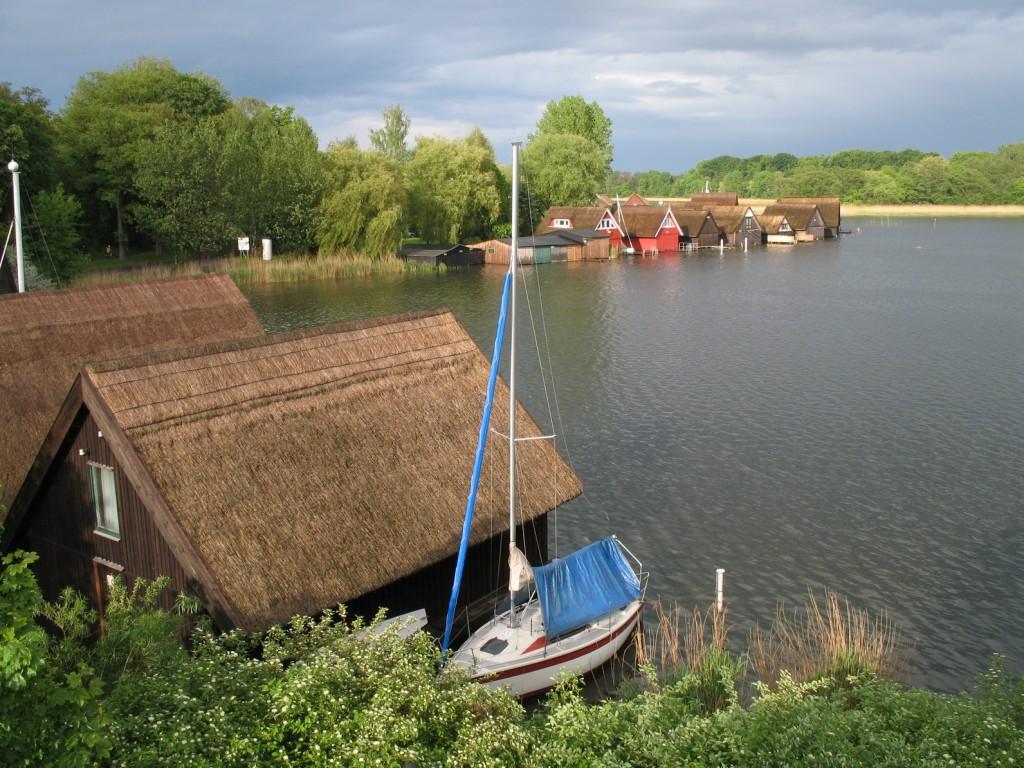 Bootshäuser an der Müritz, Mecklenburgische Seenplatte