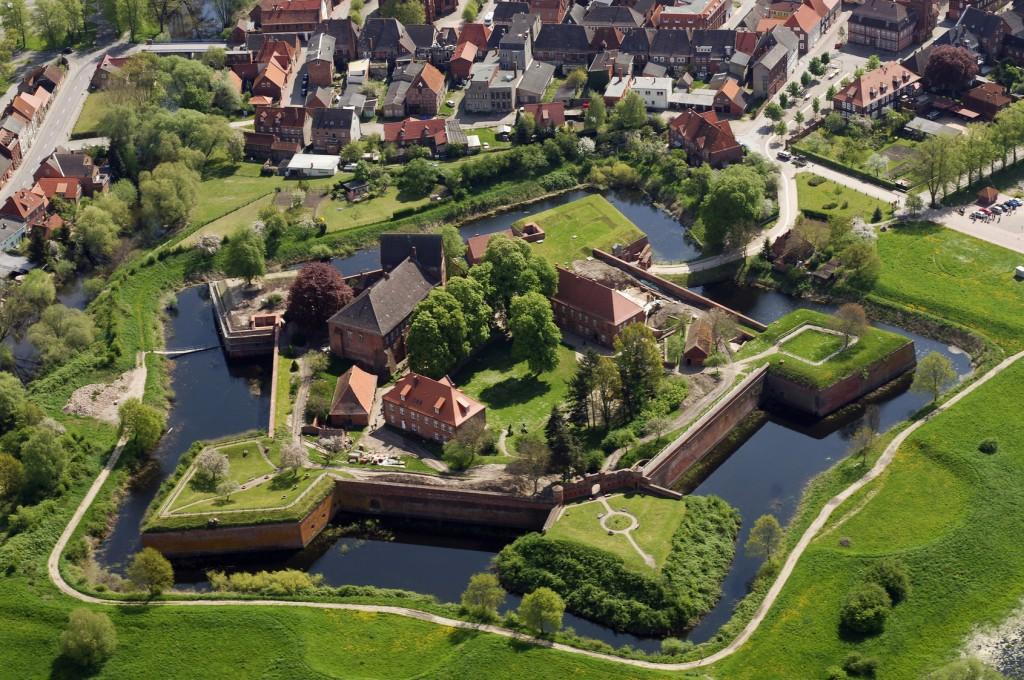 Festung Dömitz aus der Luft, Westmecklenburg