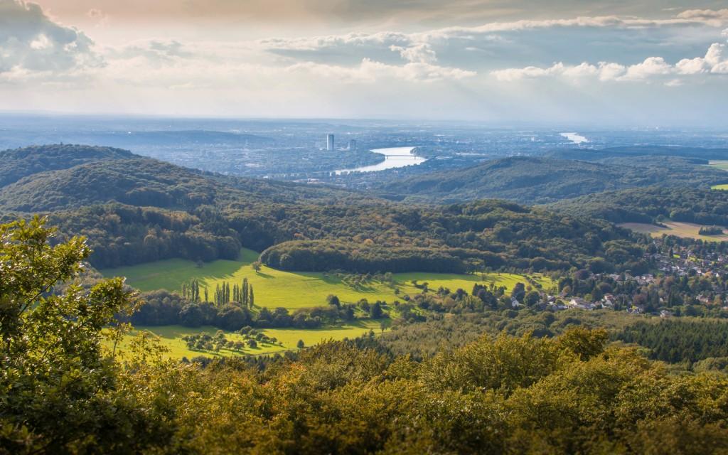 Panoramablick auf Bonn vom Ölberg