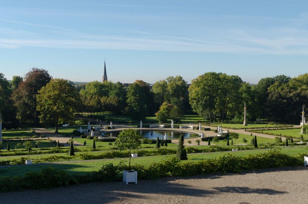 Schlosspark Sans Souci in Potsdam am 66-Seen-Wanderweg