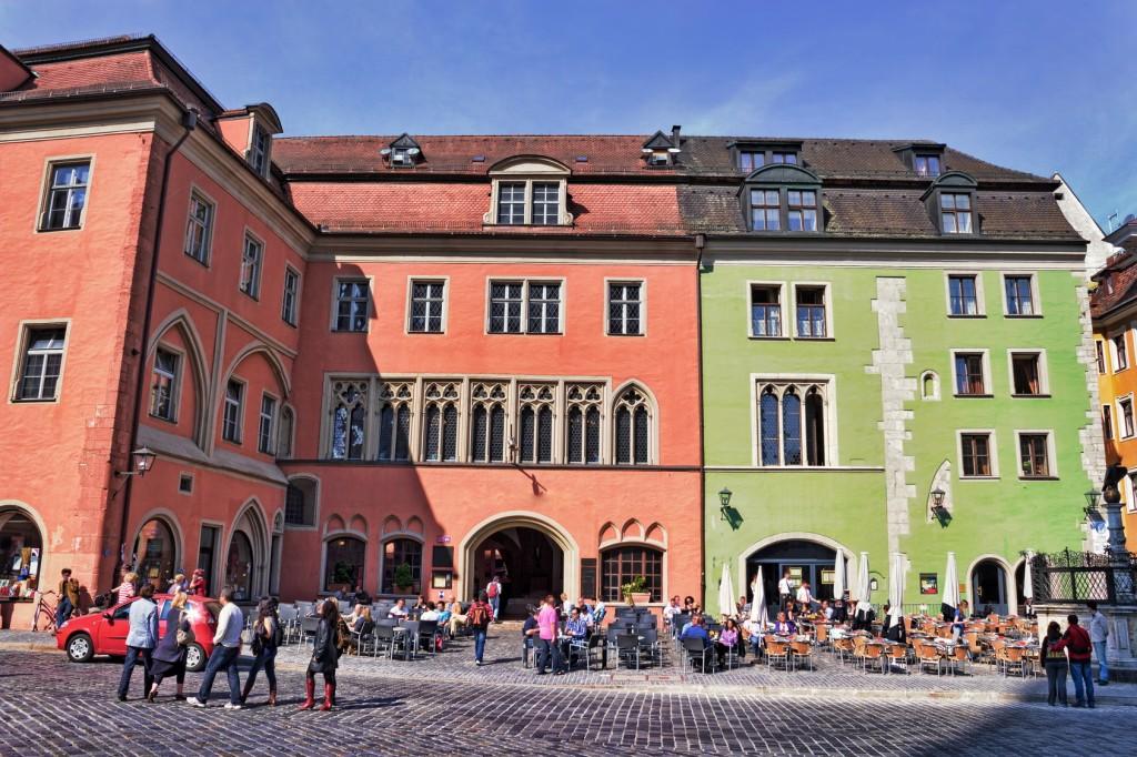 Stadtleben in Regensburg an der Donau