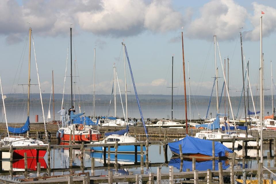 Segelboote am Dümmer See