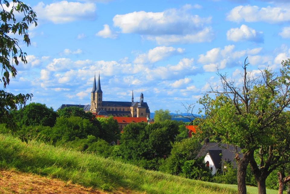 Blick auf das Kloster Michelsberg in Bamberg