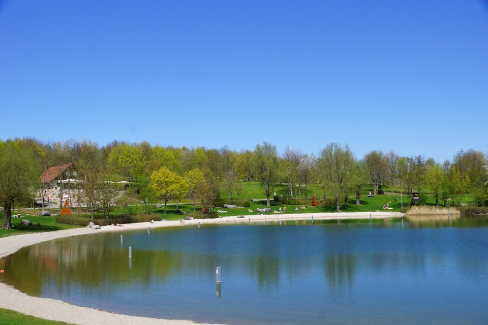 Badebucht am Breitenauer See