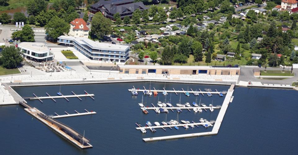 Stadthafen Senftenberg aus der Vogelperspektive