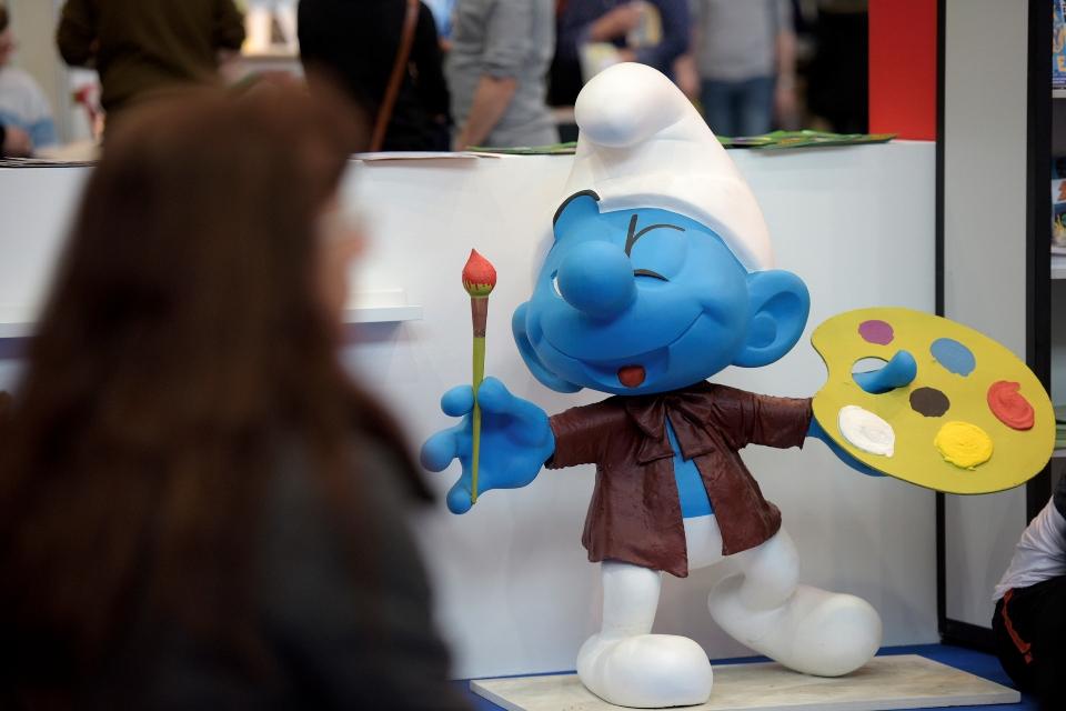 Schlumpffigur auf der Manga Comic Convention Leipzig