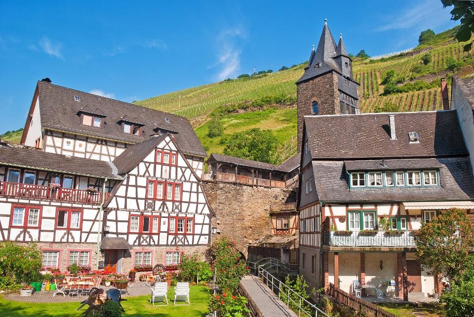 Der Malerwinkel von Bacharach am Rhein, Weinbaugebiet Mittelrhein