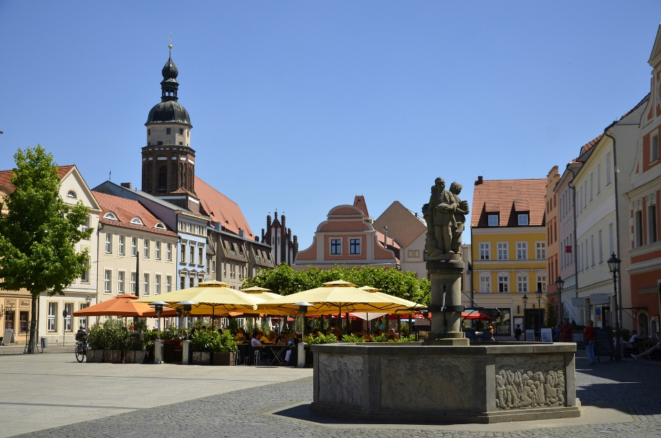 Martkbrunnen am Altmarkt in Cottbus