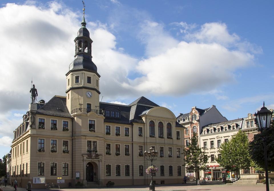 Rathaus von Crimmitschau, Westsachsen