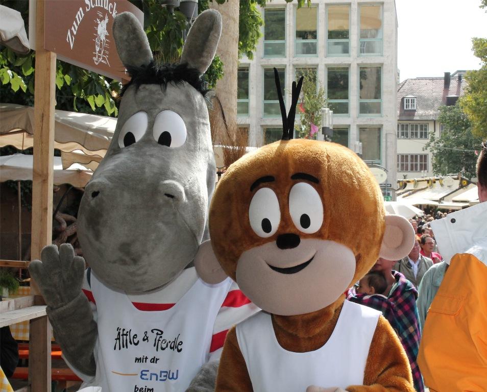 Äffle und Pferdle auf dem Stuttgarter Weindorf
