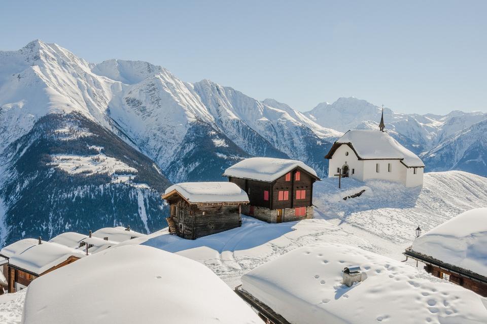 Winter im Wallis, Schweiz