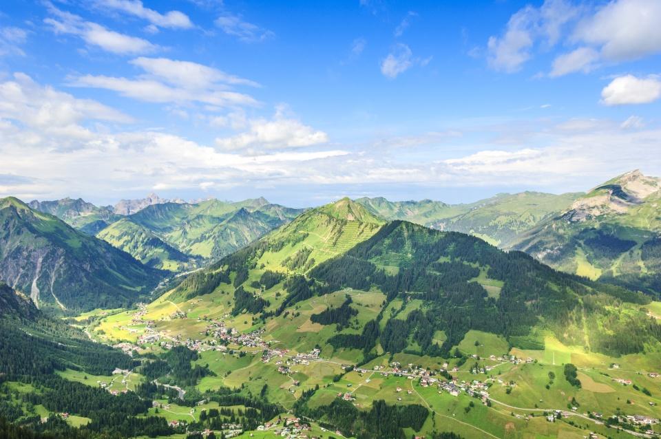 Blick ins Kleinwalsertal, Vorarlberg