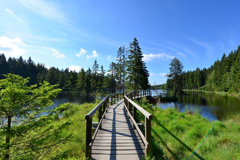 Steg am Fichtelsee See