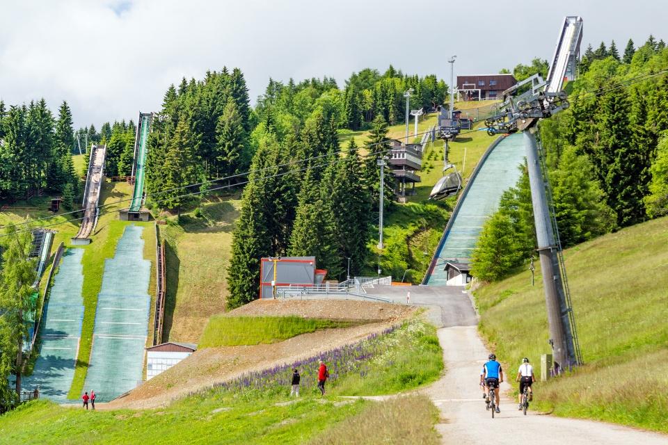 Skischanze, Oberwiesenthal im Sommer