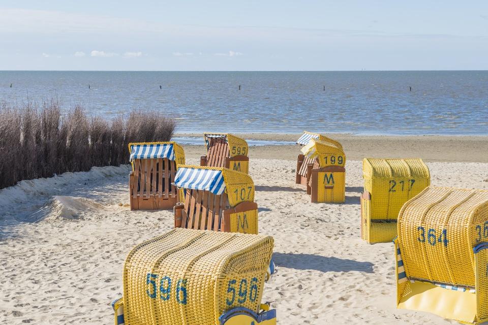 Strandkorbidylle am Meer