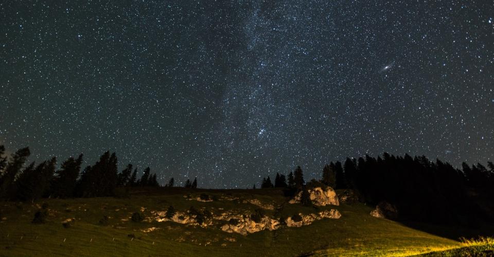 Sternenhimmel im Alpenpark Karwendel