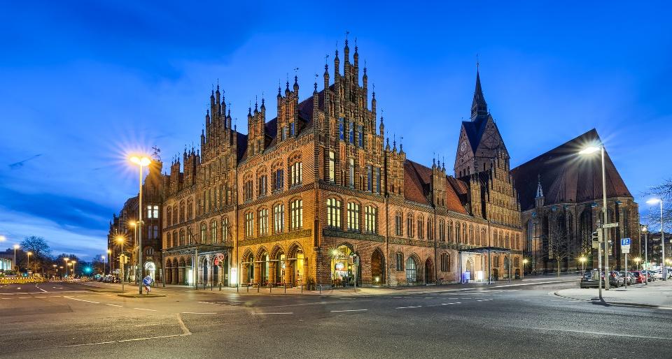 Altes Rathaus mit Marktkirche in Hannover