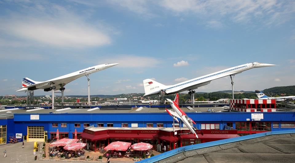 Überschallflugzeuge Concorde und Tupolev im Auto & Technik Museum Sinsheim