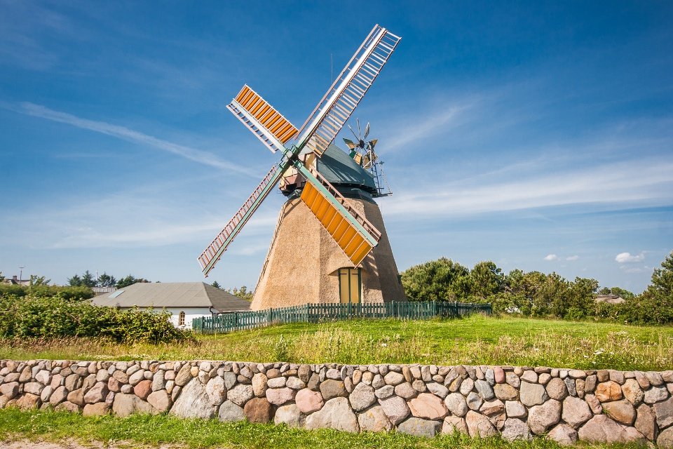 Windmühle in Nebel, Amrum