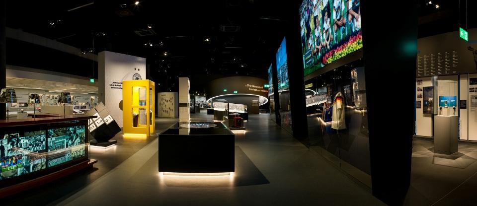 Ausstellungsbereich 1. Halbzeit im Deutschen Fußballmuseum