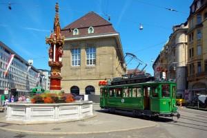 Historische Tram in Basel