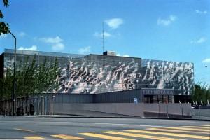 Fassade des Technorama in Winterthur, Schweiz