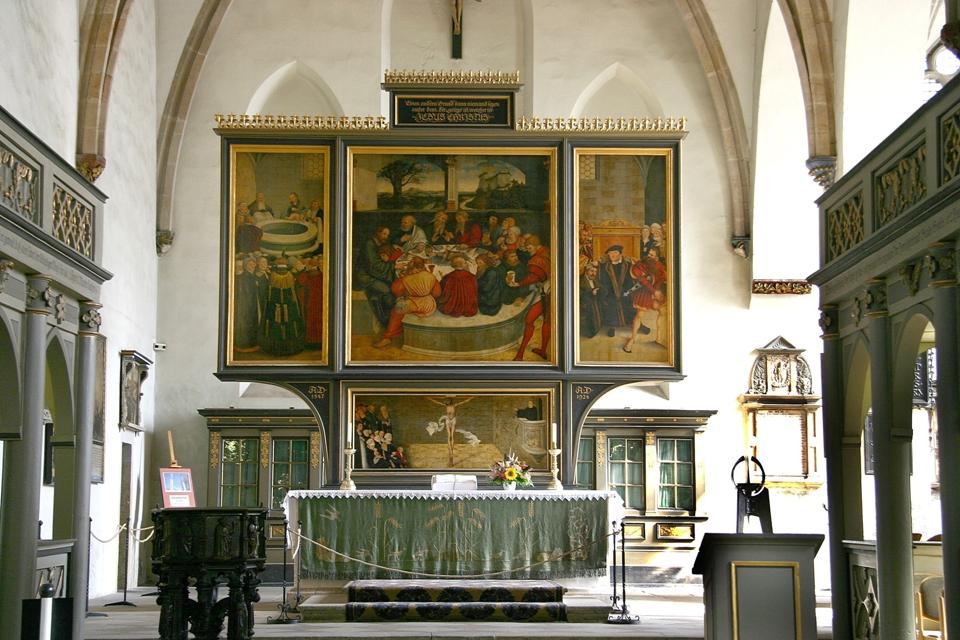 Cranachaltar in der Stadtkirche Wittenberg, Luthergedenkstätten